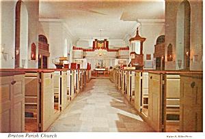 Williamsburg VA Bruton Parish Church Postcard cs0437 (Image1)