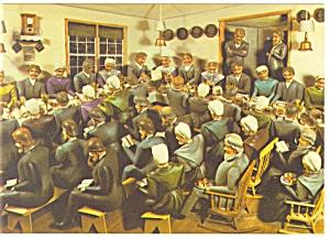 Amish The Wedding Supper Artwork Postcard cs0450 (Image1)