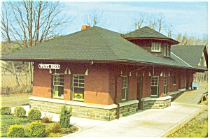White Deer PA Railroad Station Postcard cs0465 (Image1)
