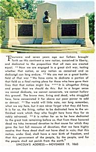 Gettysburg PA Lincoln Speech Memorial Postcard cs0477 (Image1)