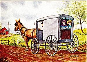 Going to Grandma s House Dutch Art Postcard Jay McVey cs0488 (Image1)