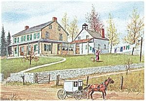 Wash Day Dutch Art Painting Jay McVey Postcard cs0490 (Image1)