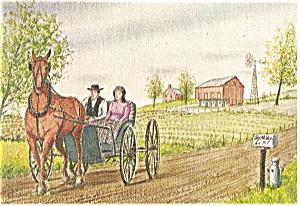 Courting Time Dutch Art Painting Jay McVey Postcard cs0492 (Image1)