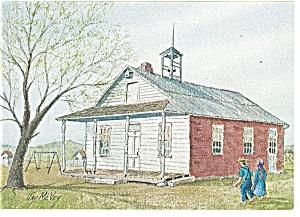 School Days Dutch Art Painting Jay McVey Postcard cs0496 (Image1)