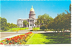 Denver CO State Capitol Postcard cs0515 (Image1)