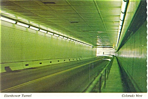 Eisenhower Tunnel,Interior,I-70, Colorado Postcard (Image1)