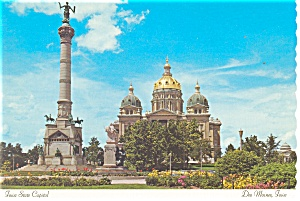 Iowa State CapitolSoldier s Monument Postcard cs0520 (Image1)