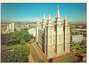 Salt Lake City  UT  LDS Temple  Postcard cs0539 (Image1)