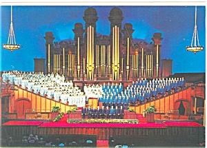 Salt Lake City  UT LDS Choir and Interior Postcard cs0540 (Image1)