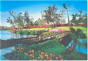 Mobile Al Bellingrath Gardens Mirror Lake Postcard Cs0565