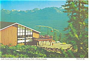 Lake Louise Lift Banff Alberta Canada Postcard Cs0568