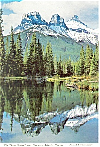 Three Sisters,Canmore Alberta, Canada Postcard (Image1)