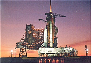 Shuttle Columbia on Launch Pad 39B Postcard (Image1)