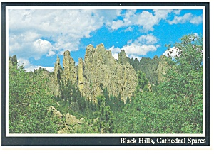 Cathedral Spires Black Hills SD Postcard cs0586 (Image1)