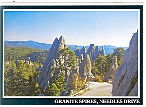 Granite Spires Needles Drive Black Hills Sd Postcard Cs0588