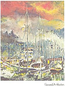 Sausalito Harbor Sausalito CA Postcard cs0604 (Image1)