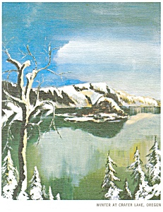 Winter at Crater Lake, OR Postcard (Image1)
