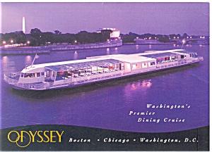 Odessey III Excursion Boat Washington DC Postcard cs0606 (Image1)