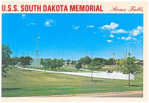 Uss South Dakota Memorial Sioux Falls, Postcard Cs0608