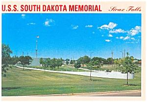 USS South Dakota Memorial Sioux Falls, Postcard cs0608 (Image1)