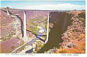 Twin Falls,ID, Hansen Bridge Postcard (Image1)