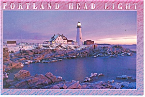 Portland Head Light Maine Postcard cs0612 (Image1)