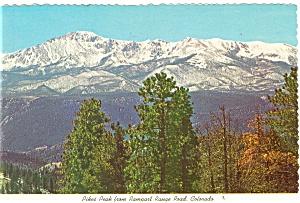 Pikes Peak From Rampart Range Road CO Postcard cs0621 (Image1)