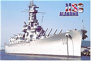 USS Alabama Battleship Memorial Park AL Postcard cs0628 (Image1)