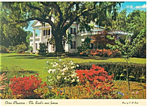 Wilmington Nc Orton Plantation Postcard Cs0633 1986