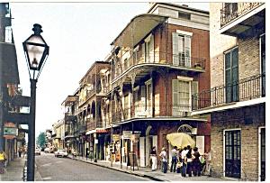 New Orleans,LA, St Peter Street Postcard 1989 (Image1)