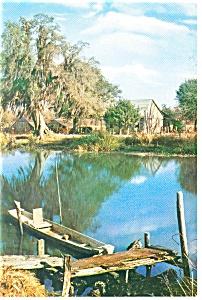 Along the Bayou Louisiana Postcard cs0644 1989 (Image1)