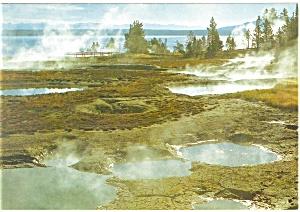 Geyser Basin,Yellowstone National Park Postcard 1987 (Image1)