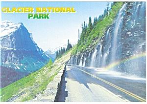 Weeping Wall Glacier National Park MT Postcard cs0658 (Image1)