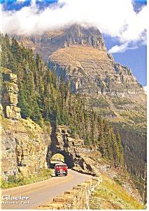 Logan Pass Glacier National Park MT Postcard cs0660 (Image1)
