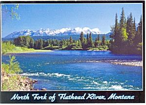 Flathead River Glacier National Park MT Postcard cs0665 (Image1)