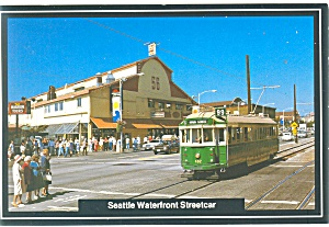 Seattle, WA Waterfront Streetcar Postcard 1987 (Image1)