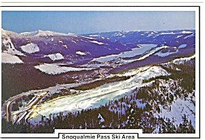 Snoqualmine Pass Ski Area WA Postcard cs0668 1987 (Image1)