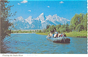 Float Trips on the Snake River WY Postcard cs0669 1987 (Image1)