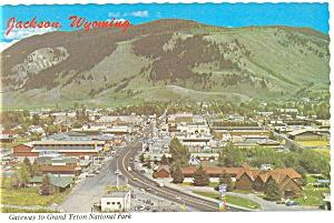 Jackson WY Aerial View  Postcard cs0670 1987 (Image1)