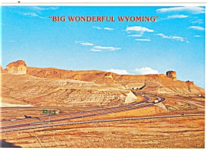 Teapot and Castle Rock on I-80, Wyoming Postcard (Image1)