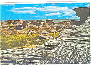 Sandstone with Festoon Cross Bedding Wyoming Postcard cs0705 (Image1)