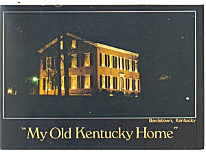 Bardstown KY My Old Kentucky Home Postcard cs0710 (Image1)