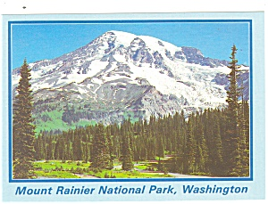 Mt Rainier National Park Washington  Postcard cs0716 (Image1)