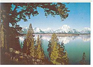Jackson Lake Wyoming Postcard cs0718 (Image1)