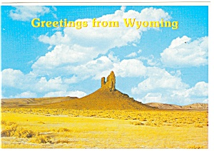 Boars Tusk Wyoming Postcard cs0732a (Image1)