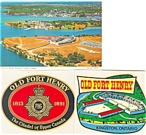 Old Fort Henry Kingston Ontario Postcard Stickers Cs0741