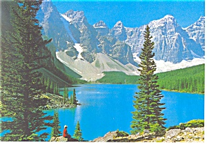 Moraine Lake, Canadian Rockies Postcard (Image1)