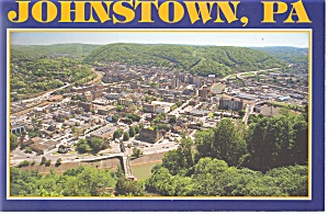 Aerial View of Johnstown, PA Postcard (Image1)