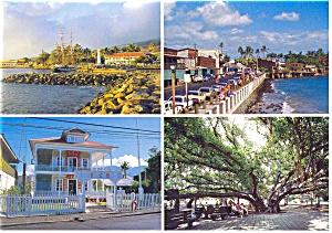 Old Lahaina Town Hawaii Postcard cs0793 (Image1)