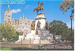 Richmond, VA State Capitol Grounds Postcard (Image1)